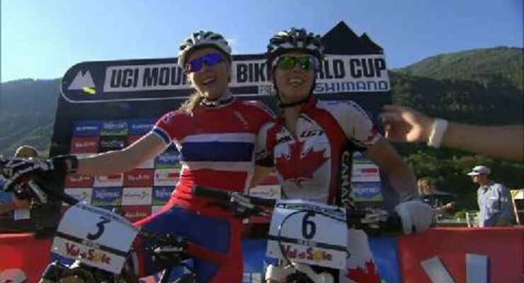 MTB-Weltcup Val di Sole: Action beim Eliminator-Sprint
